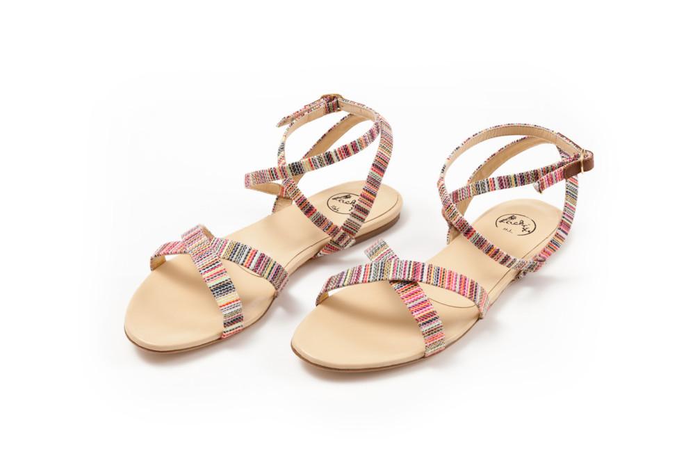 sandali alla schiava in pelle