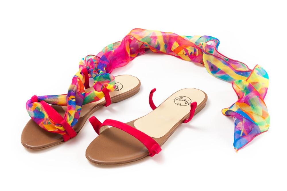 sandali in seta